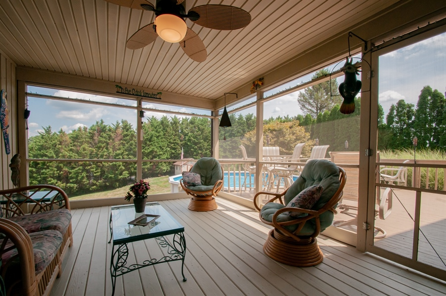 Real Estate Photography - 205 Louis Ln, Hockessin, DE, 19707 - Screened Porch Overlooking Backyard
