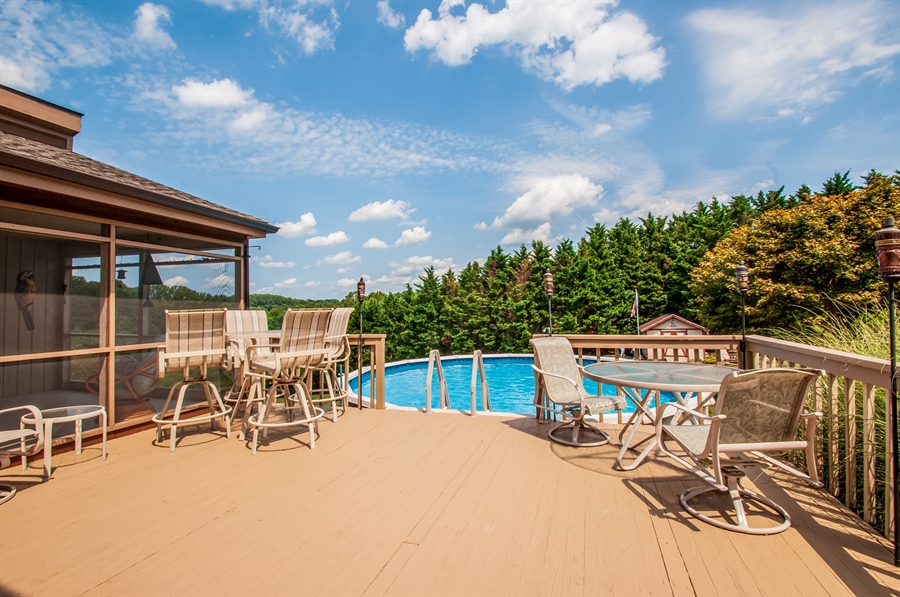 Real Estate Photography - 205 Louis Ln, Hockessin, DE, 19707 - Spacious Wood Deck