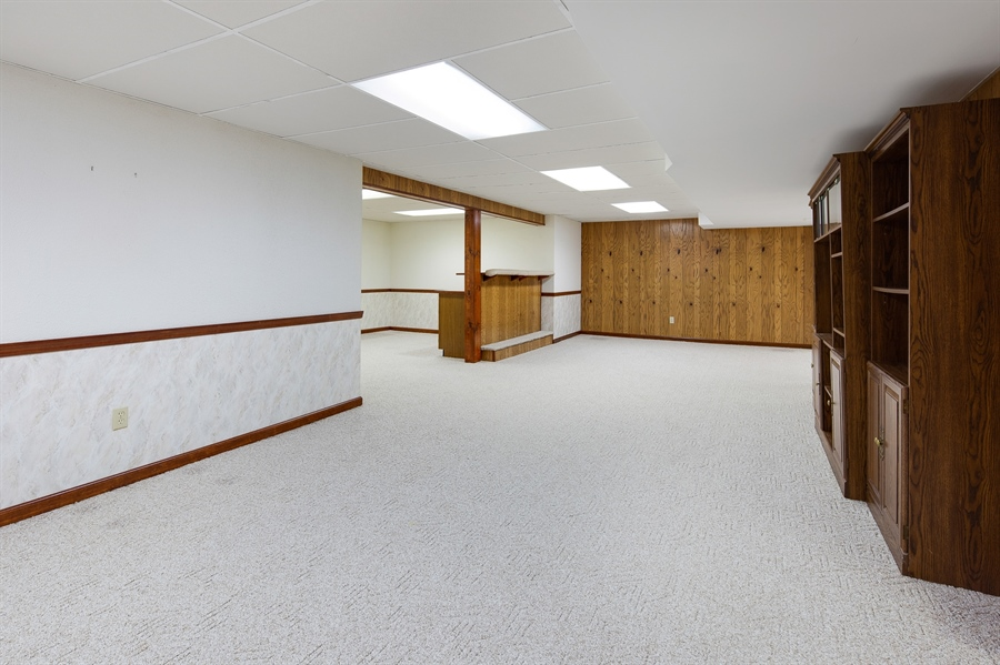 Real Estate Photography - 270 Delaplane Ave, Newark, DE, 19711 - Finished lower level with bar area