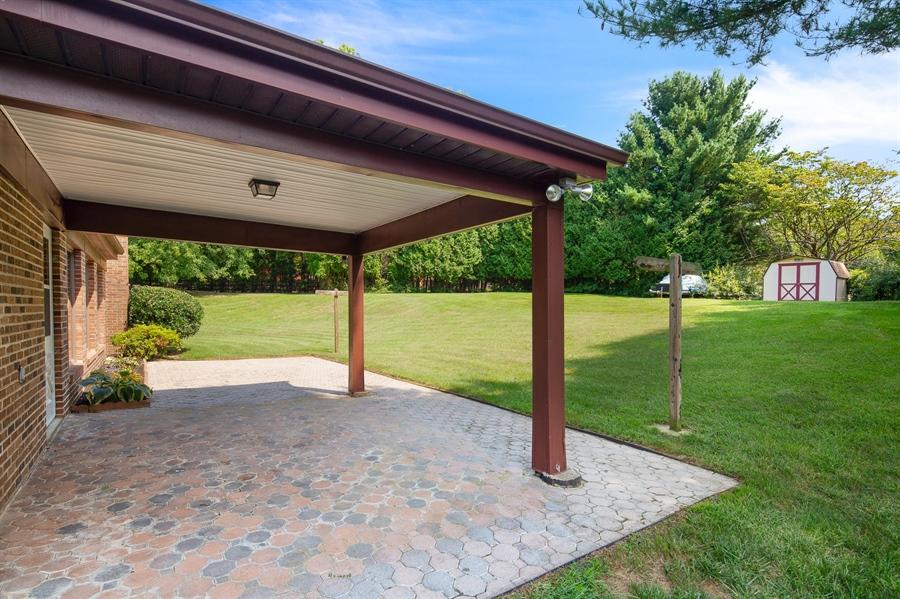 Real Estate Photography - 270 Delaplane Ave, Newark, DE, 19711 - Partially covered paver patio
