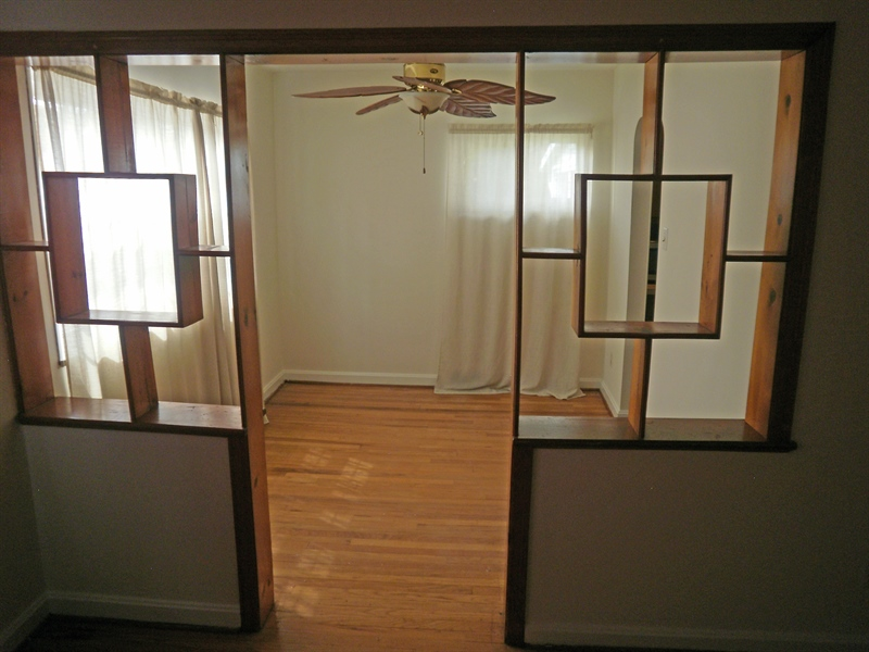 Real Estate Photography - 404 Stanton Rd, Wilmington, DE, 19804 - Divider between living and dining room