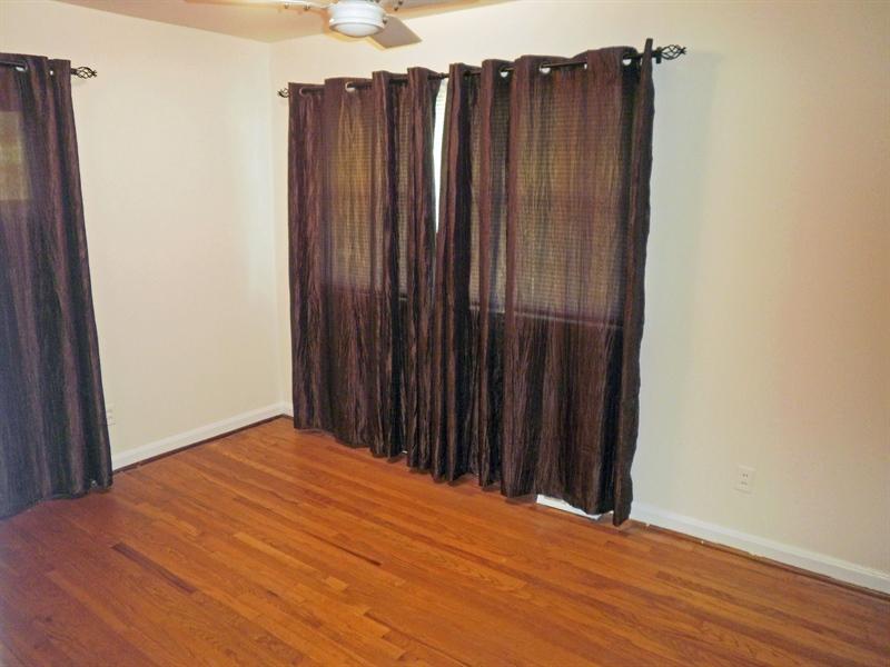 Real Estate Photography - 404 Stanton Rd, Wilmington, DE, 19804 - 2nd bedroom with ceiling fan & hardwood floors