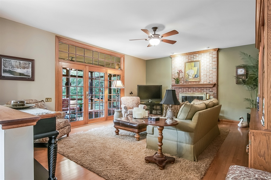 Real Estate Photography - 525 Ridgeview Dr, Hockessin, DE, 19707 - FR View Showing Access to the Screened in Porch