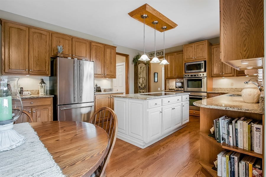 Real Estate Photography - 525 Ridgeview Dr, Hockessin, DE, 19707 - Another Kitchen View From the Sliding Glass Door