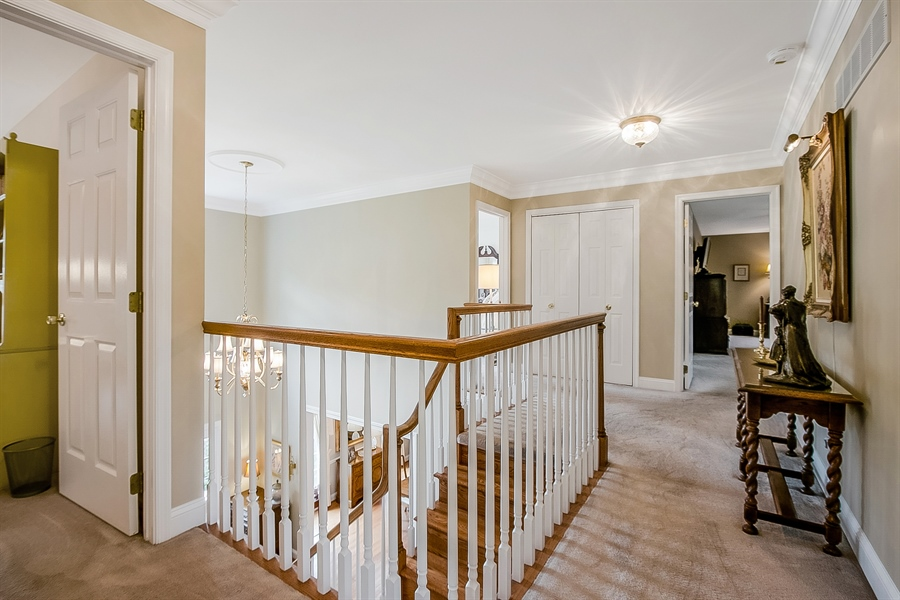 Real Estate Photography - 525 Ridgeview Dr, Hockessin, DE, 19707 - Another View of the Upstairs Hall