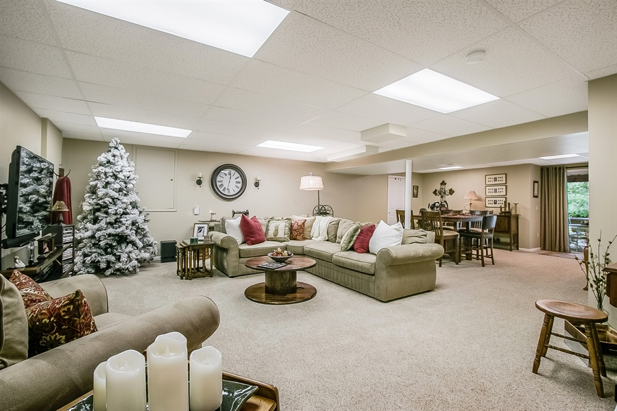 Real Estate Photography - 525 Ridgeview Dr, Hockessin, DE, 19707 - Finished Walk-Out Lower Level Adds Extra Space