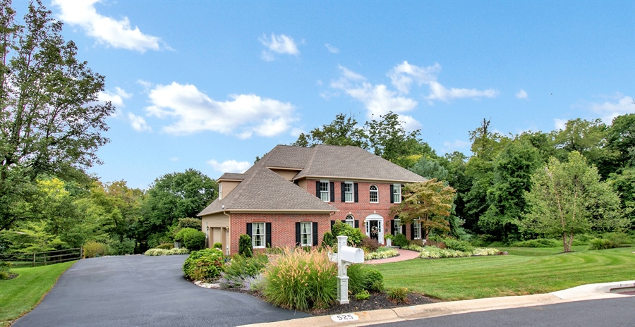 Real Estate Photography - 525 Ridgeview Dr, Hockessin, DE, 19707 - View From Street Showing the Beautiful Setting