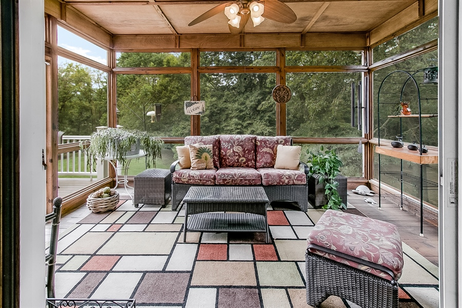 Real Estate Photography - 525 Ridgeview Dr, Hockessin, DE, 19707 - Beautiful Screened-In Porch - Just Stained!