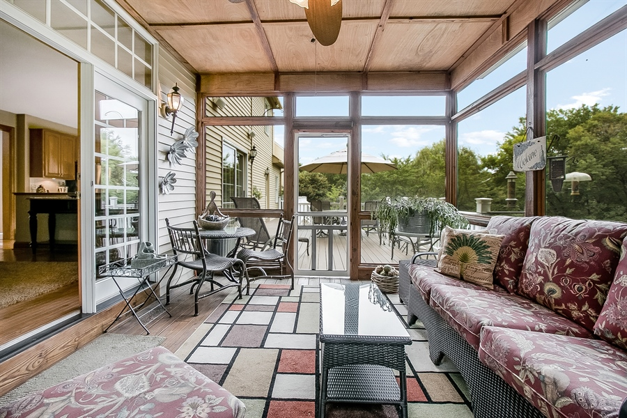 Real Estate Photography - 525 Ridgeview Dr, Hockessin, DE, 19707 - Another View of the Porch Looking Toward the Deck