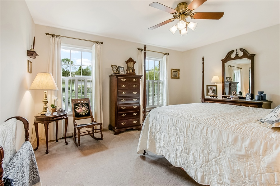 Real Estate Photography - 525 Ridgeview Dr, Hockessin, DE, 19707 - Second Bedroom with Two Large Windows