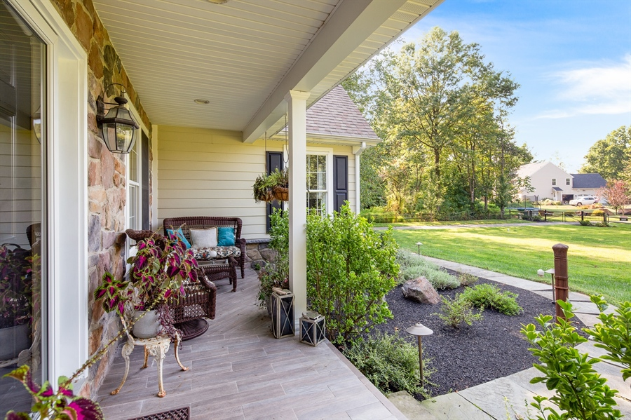 Real Estate Photography - 784 Shavertown Rd, Garnet Valley, PA, 19060 - Deep front porch