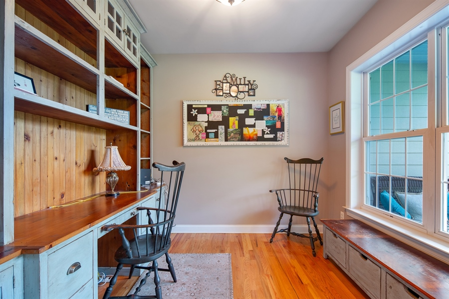 Real Estate Photography - 784 Shavertown Rd, Garnet Valley, PA, 19060 - First floor Study with hardwood flooring