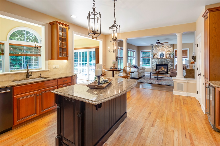 Real Estate Photography - 784 Shavertown Rd, Garnet Valley, PA, 19060 - Gorgeous Chef kitchen with eat-in island