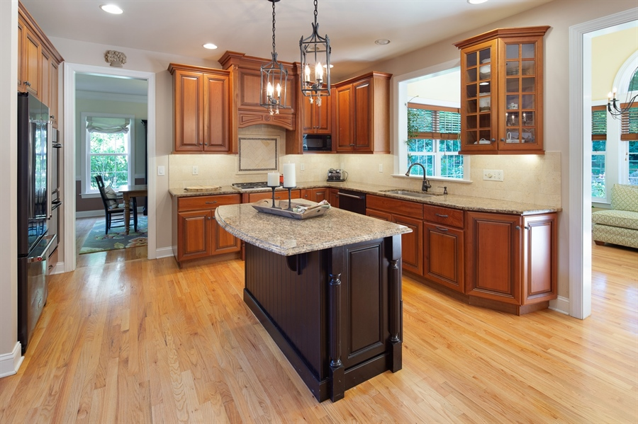 Real Estate Photography - 784 Shavertown Rd, Garnet Valley, PA, 19060 - Kitchen open concept to sunroom