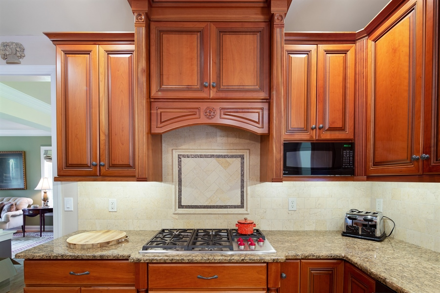 """Real Estate Photography - 784 Shavertown Rd, Garnet Valley, PA, 19060 - Custom 42"""" tall kitchen cabinetry"""