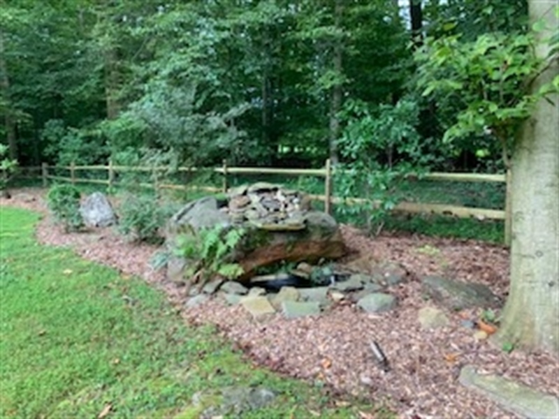 Real Estate Photography - 784 Shavertown Rd, Garnet Valley, PA, 19060 - Water feature with stone fountain