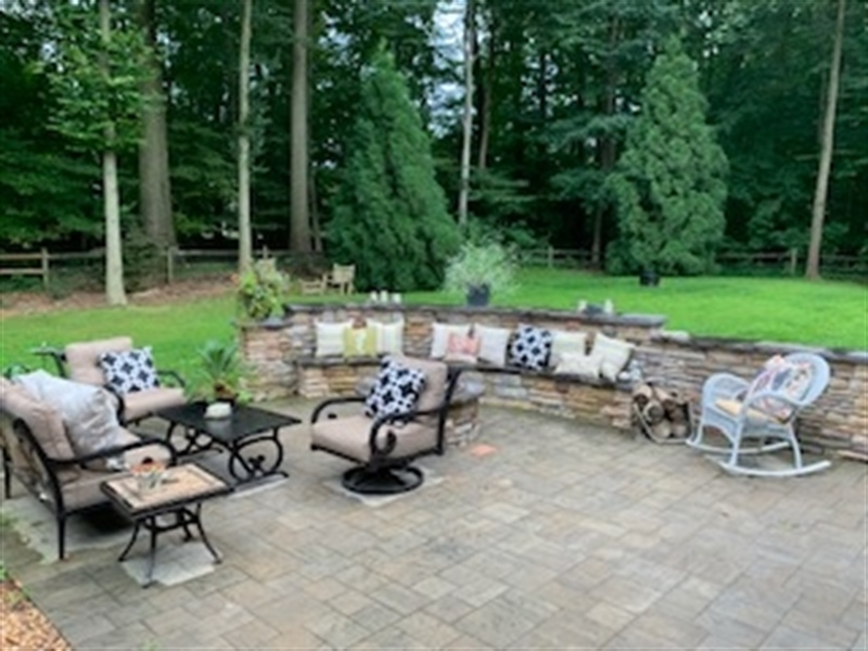 Real Estate Photography - 784 Shavertown Rd, Garnet Valley, PA, 19060 - Recently added gas fire pit, patio & landscaping!