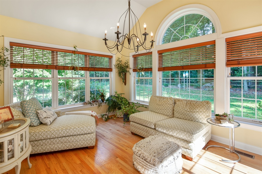 Real Estate Photography - 784 Shavertown Rd, Garnet Valley, PA, 19060 - Bright & airy sunroom bringing nature indoors