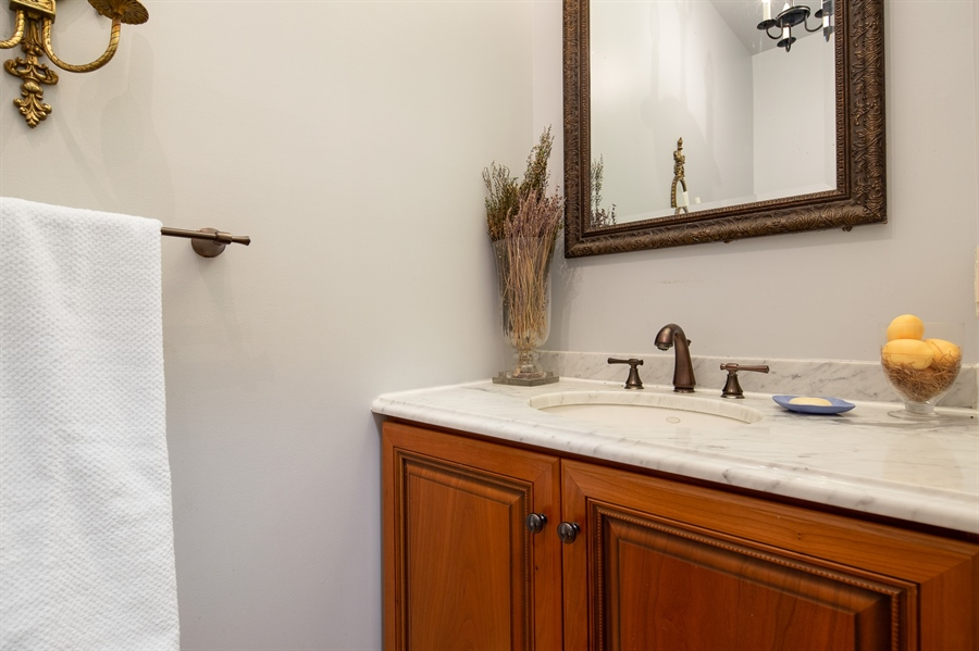 Real Estate Photography - 784 Shavertown Rd, Garnet Valley, PA, 19060 - First floor powder room for guests