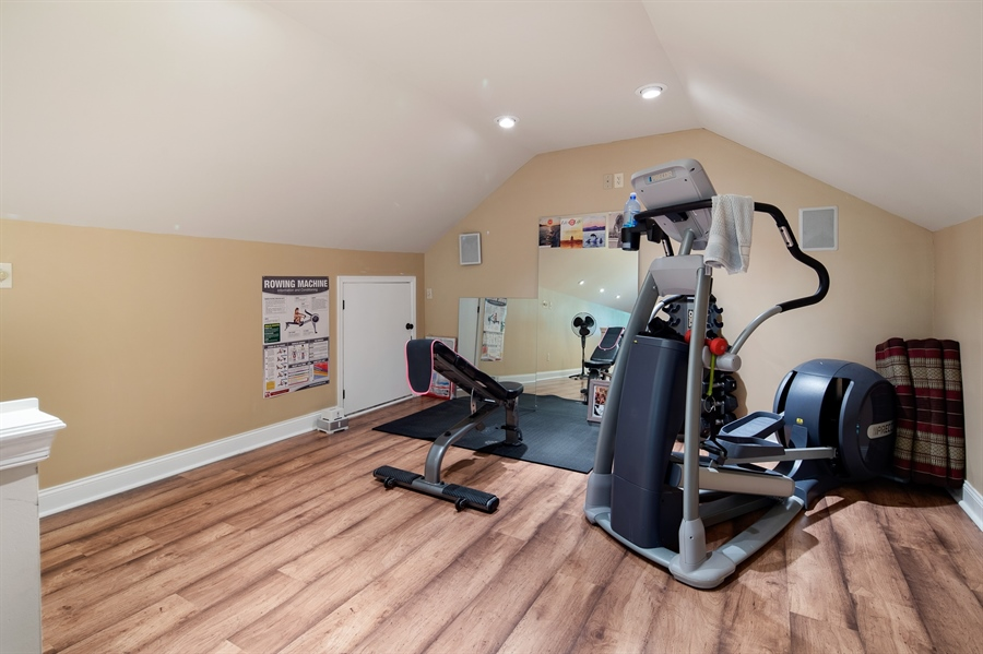 Real Estate Photography - 784 Shavertown Rd, Garnet Valley, PA, 19060 - 3rd floor bonus space for perfect for fitness