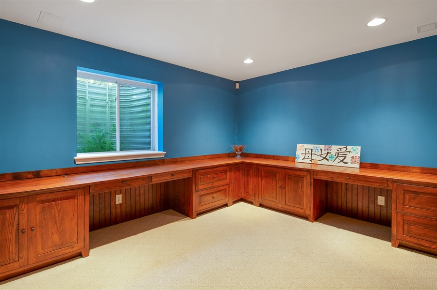 Real Estate Photography - 784 Shavertown Rd, Garnet Valley, PA, 19060 - Lower Level office/ Project room