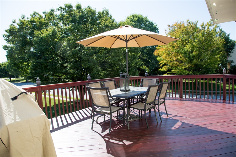 Real Estate Photography - 11 Wisteria Dr, Newark, DE, 19702 - an expansive deck just outside your kitchen!