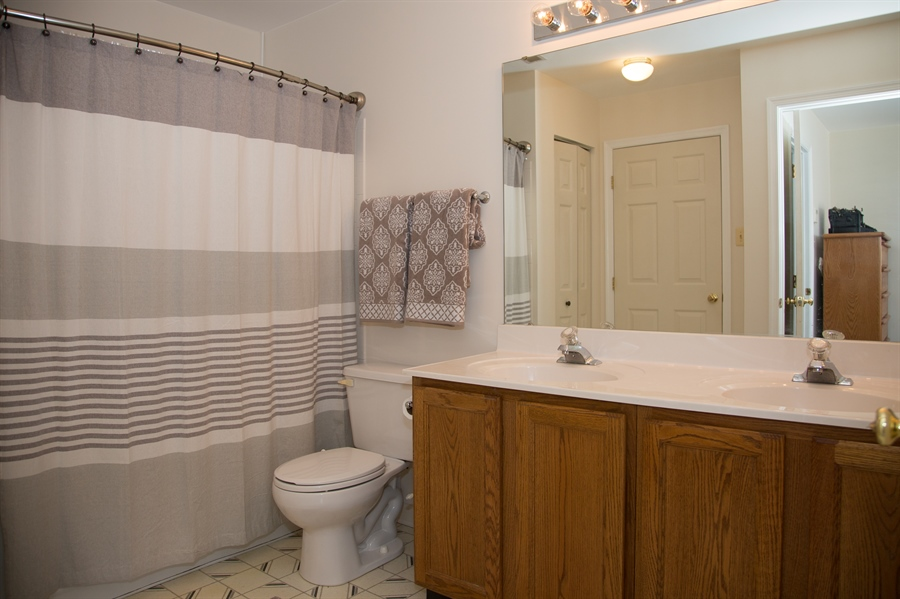 Real Estate Photography - 11 Wisteria Dr, Newark, DE, 19702 - Double sink vanity