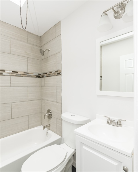 Real Estate Photography - 3038 W Court Ave, Claymont, DE, 19703 - Updated Bathroom