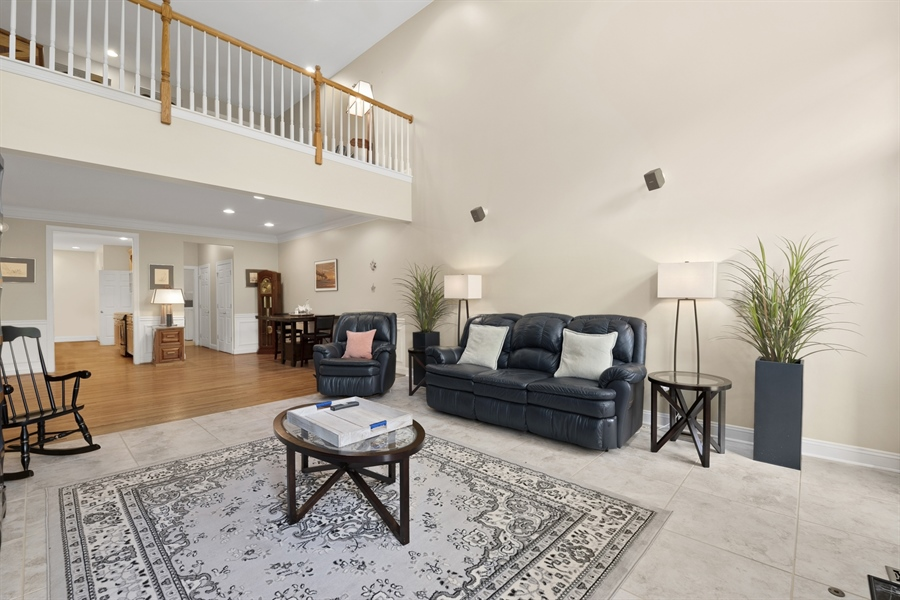 Real Estate Photography - 30 Fall Brooke Rd, Newark, DE, 19711 - Great Room to Dining Room with Loft Above