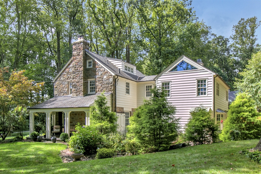 Real Estate Photography - 300 Kennett Pike, Chadds Ford, PA, 19317 - Original Stone Exterior with Modern Additions