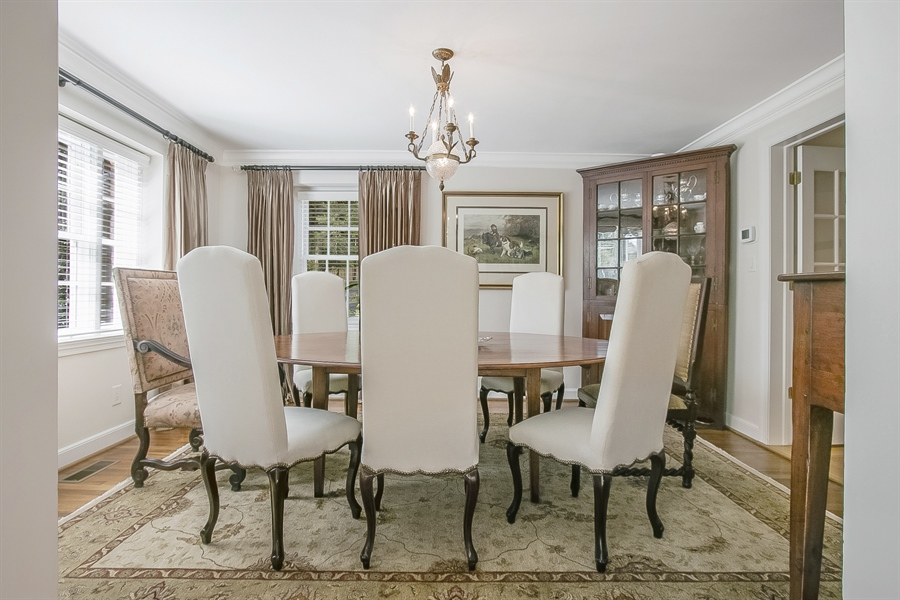 Real Estate Photography - 300 Kennett Pike, Chadds Ford, PA, 19317 - Generously Sized Dining Room