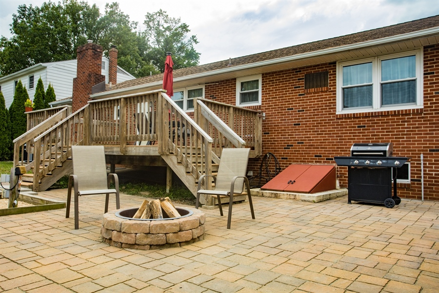 Real Estate Photography - 404 Cushman Rd, Wilmington, DE, 19804 - Rear Patio