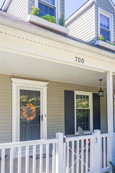 Real Estate Photography - 700 Fawn Rd, Newark, DE, 19711 - front porch with rail and gate