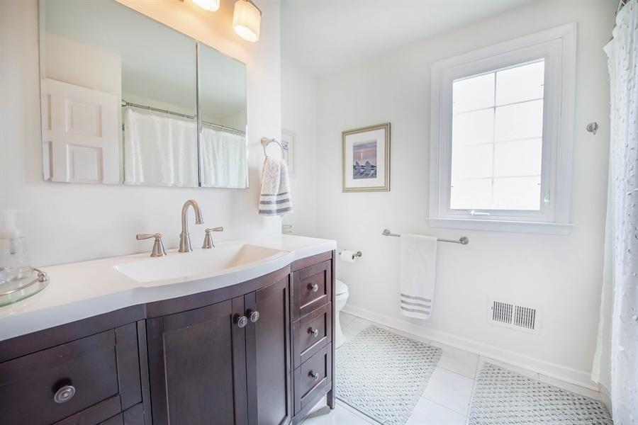 Real Estate Photography - 700 Fawn Rd, Newark, DE, 19711 - updated 2nd floor hall bath