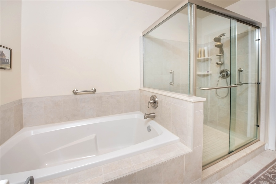 Real Estate Photography - 700 Fawn Rd, Newark, DE, 19711 - Master bathroom with separate tub and shower
