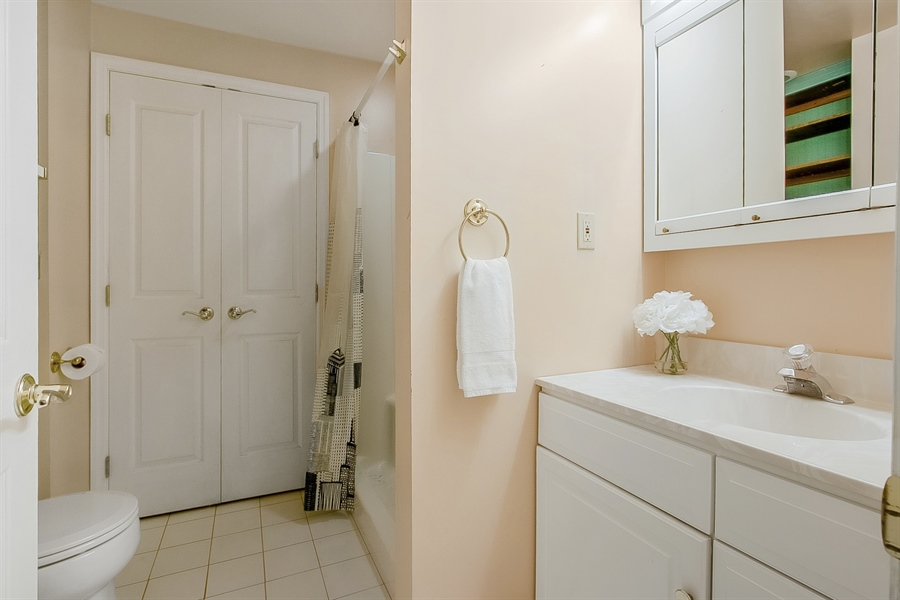 Real Estate Photography - 5 Grosbeak Ln, Newark, DE, 19711 - Lower Level Bathroom!