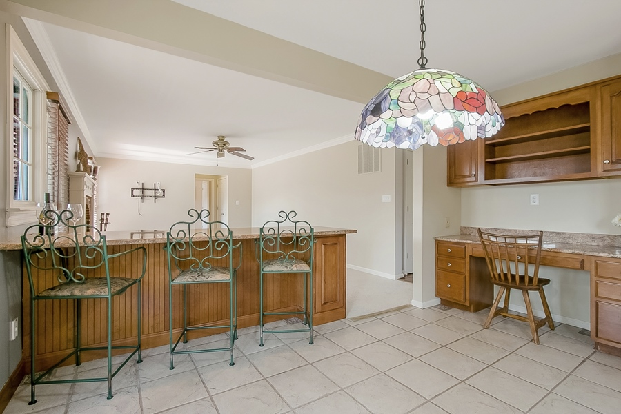 Real Estate Photography - 5 Grosbeak Ln, Newark, DE, 19711 - Large Granite Topped Breakfast Bar