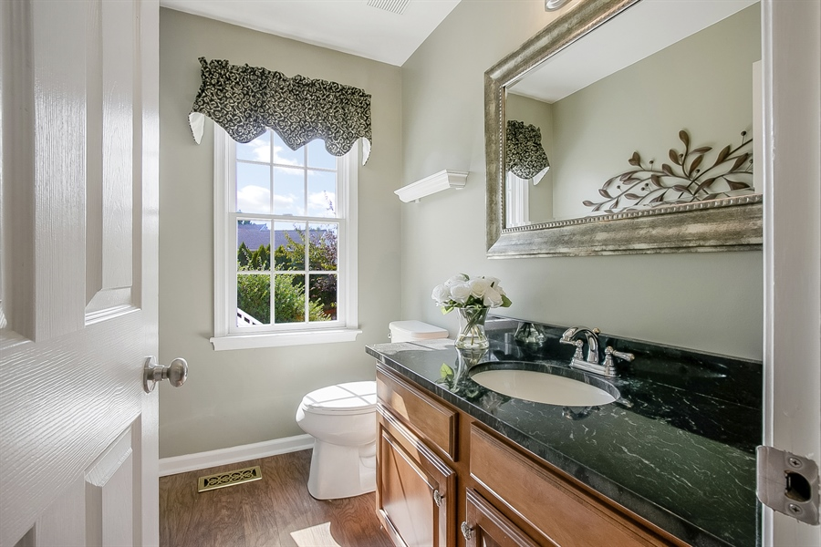 Real Estate Photography - 5 Grosbeak Ln, Newark, DE, 19711 - Upgraded Pretty Powder Room