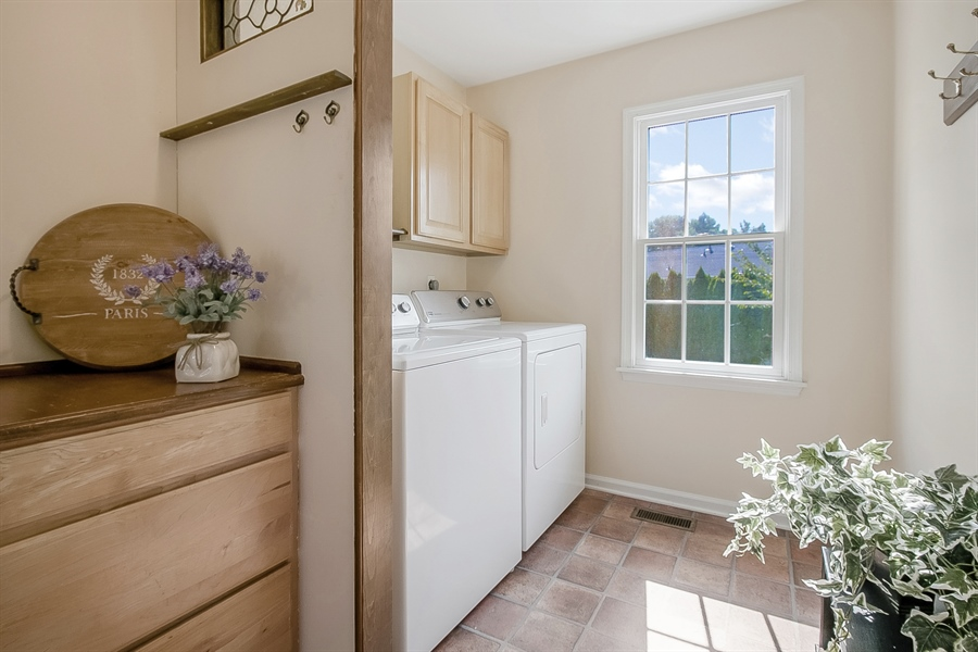 Real Estate Photography - 5 Grosbeak Ln, Newark, DE, 19711 - Convenient Laundry And Mud Room W/Cabinets