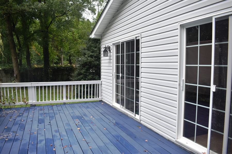 Real Estate Photography - 196 Mifflin Rd, Dover, DE, 19904 - Deck, freshly painted