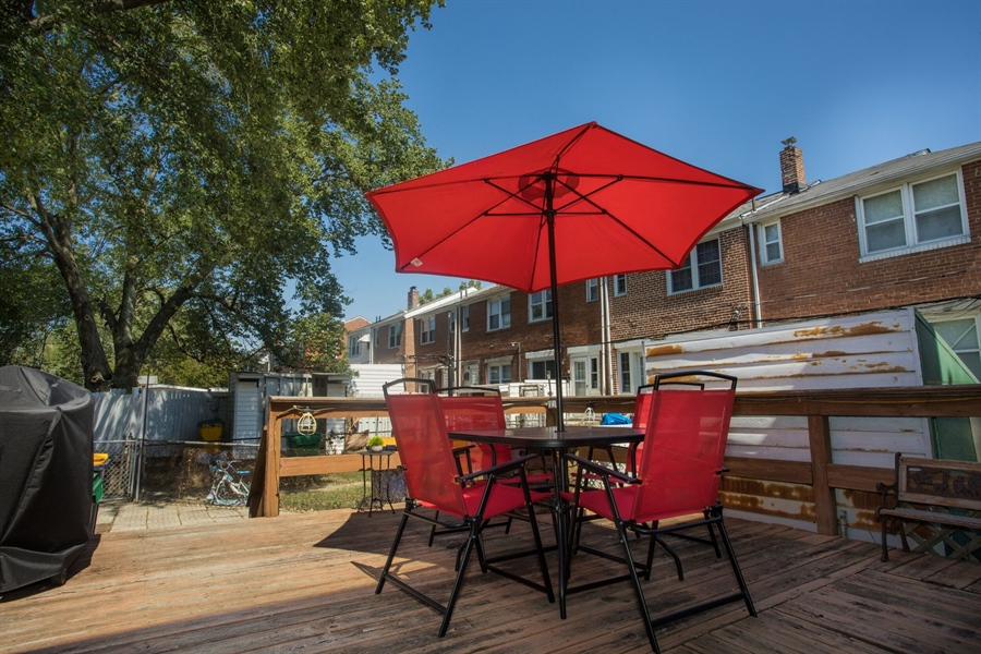 Real Estate Photography - 1009 Dover Ave, Wilmington, DE, 19805 - Back Deck
