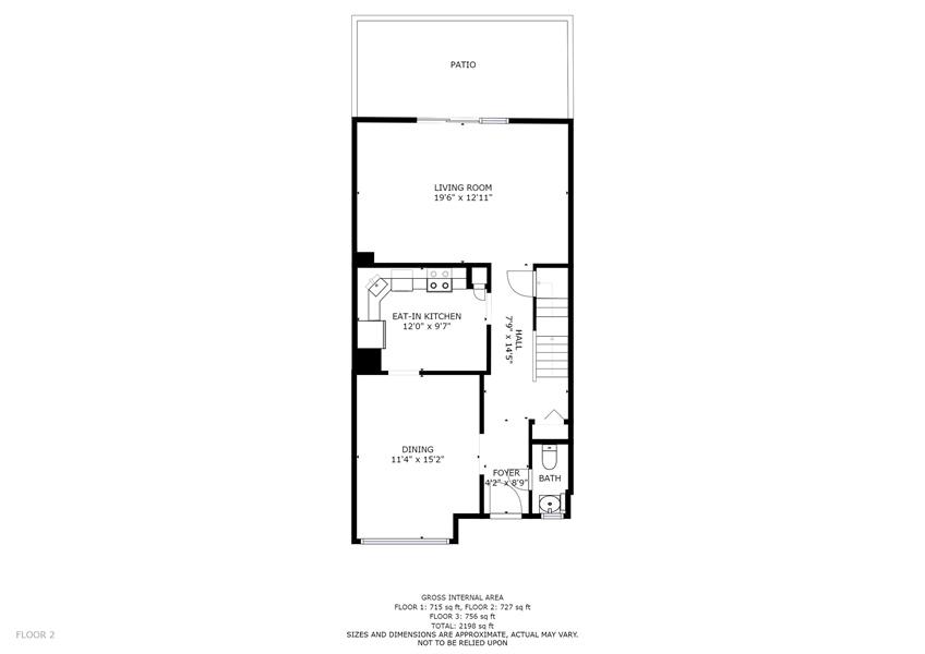 Real Estate Photography - 10 West Ct, Wilmington, DE, 19810 - Main level floor plan