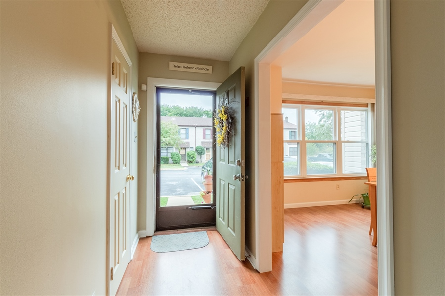 Real Estate Photography - 10 West Ct, Wilmington, DE, 19810 - Main foyer entry with coat closet & powder room