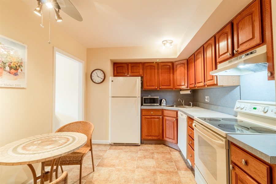 Real Estate Photography - 10 West Ct, Wilmington, DE, 19810 - Large eat-in kitchen with pantry