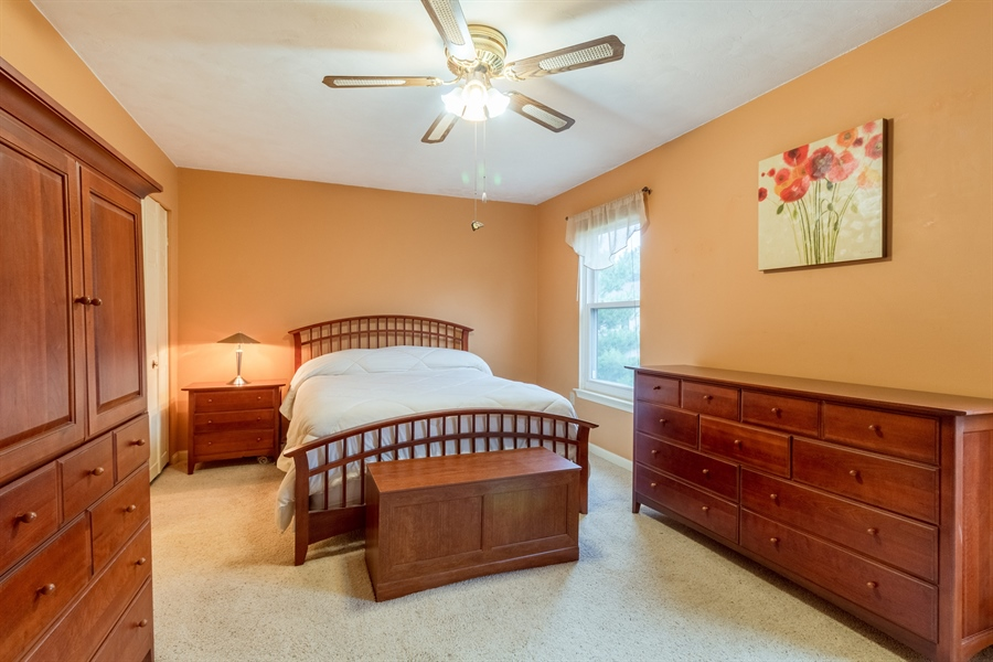 Real Estate Photography - 10 West Ct, Wilmington, DE, 19810 - Large master bedroom with ceiling fan