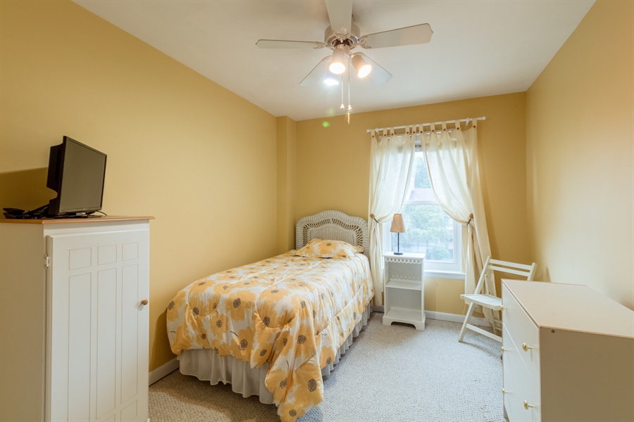 Real Estate Photography - 10 West Ct, Wilmington, DE, 19810 - Second bedroom has neutral, wall-to-wall carpet