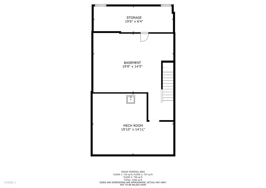 Real Estate Photography - 10 West Ct, Wilmington, DE, 19810 - Basement floor plan