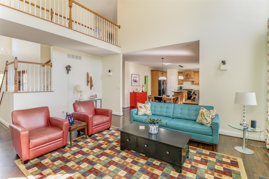 """Real Estate Photography - 915 Benalli Dr, Middletown, DE, 19709 - 2 story family room with """"catwalk"""" above"""