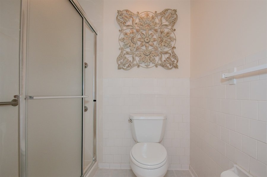 Real Estate Photography - 614 Loveville  Road #B1g, B1G, Hockessin, DE, 19707 - Master Bath Shower And Toilet Area