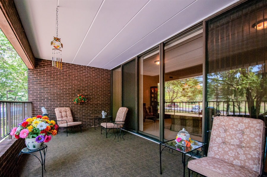 Real Estate Photography - 614 Loveville  Road #B1g, B1G, Hockessin, DE, 19707 - Fabulous Balcony With Indoor/Outdoor Carpeting